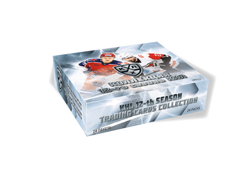 """"""" KHL ICE-HOCKEY TRADING CARDS THE 12th SEASON COLLECTION 2019/20"""" ---1 case -10 boxes(240 packages)"""
