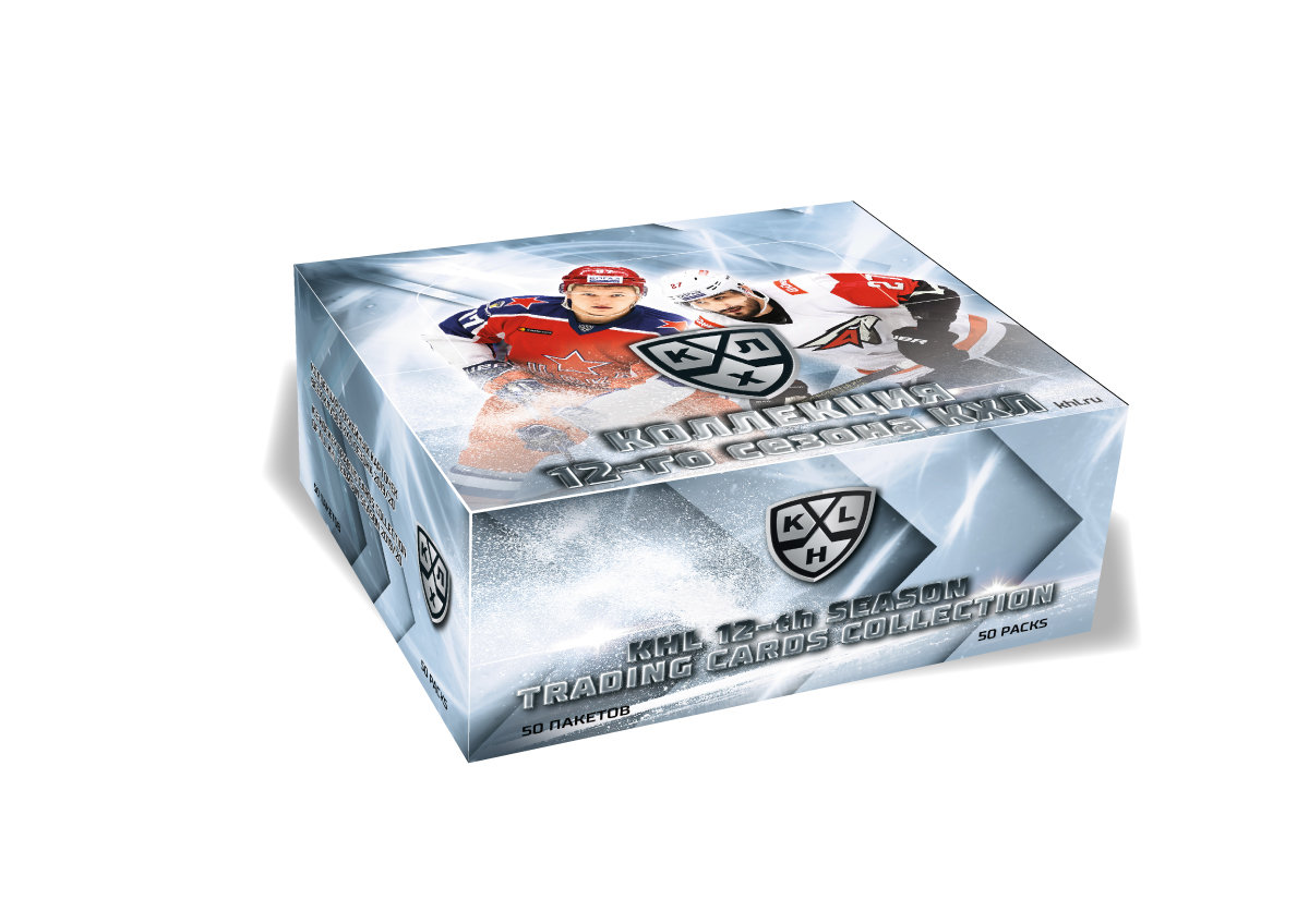 """KHL ICE-HOCKEY TRADING CARDS THE 12th SEASON COLLECTION 2019/20"""" ---1 case -10 boxes(500 packages)"""
