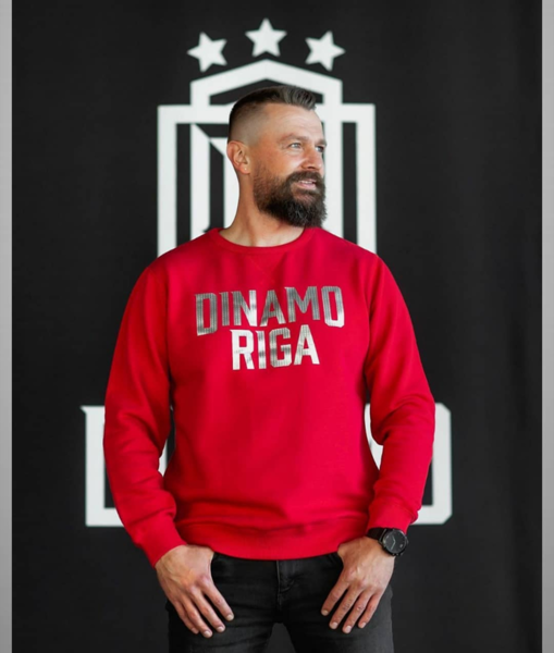 RED SWEATSHIRT OF DINAMO RIGA